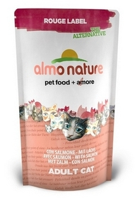Almo Nature 100% Fresh Сухой корм Для Кошек с Лососем (Rouge label The Alternative Cat Salmon)