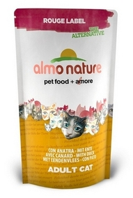 Almo Nature 100% Fresh  Сухой корм Для Кошек с Уткой (Rouge label The Alternative Cat Duck)