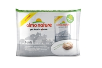 Almo Nature 6 штук по 55г ПАУЧИ для Кошек с Курицей и Сардинками (Classic Adult Cat Chicken&White Bait)