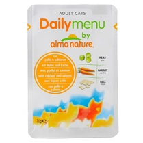"Almo Nature Паучи для кошек ""Меню с Курицей и Лососем"" (Daily Menu Cat Chciken & Salmon)"