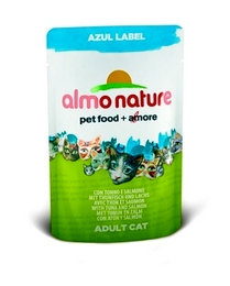 Almo Nature Паучи для Кошек с Тунцом и Лососем (Azul Label Cat Tuna&Salmon)