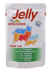 Almo Nature паучи для кошек с тунцом в желе, Jelly Cat Tuna