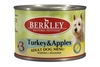 Berkley Консервы для собак с индейкой и яблоками (Adult Turkey & Apples)