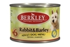 Berkley Консервы для собак с кроликом и ячменем (Adult Rabbit & Barley)