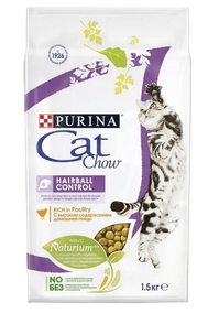 Cat Chow для кошек для выведения шерсти из желудка (Special Care Hairball Control Rich in Poultry)
