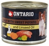 Ontario консервы для собак малых пород: телятина и батат, OTARIO Mini Calf, Sweetppotato, Dandelion and Linseed Oil